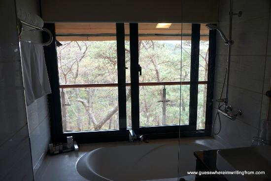 Le Monet Hotel: Bathroom With A View