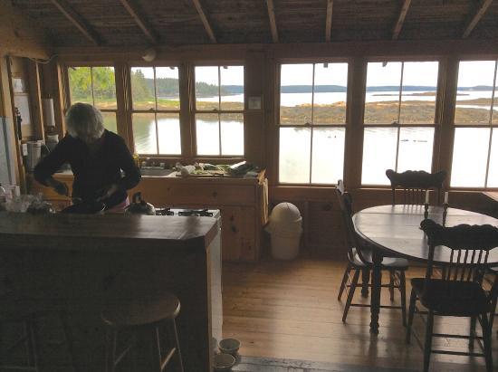 Harborside, ME: Joan cooking in Edgewater Cottage