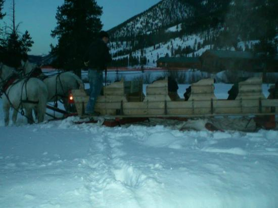 320 Guest Ranch : BURIED SLEIGH AFTER HORSES RAN OUT OF CONTROL
