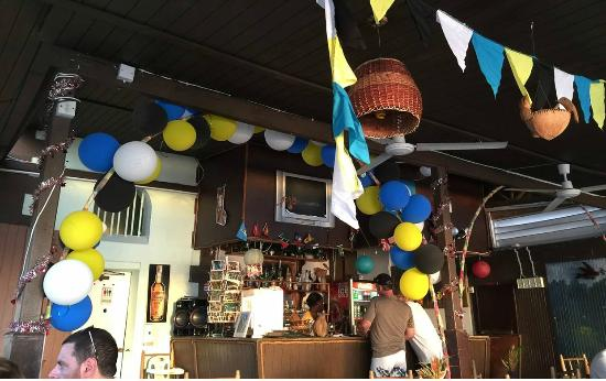 La Petit Peak: Interior decorated for Independence Day