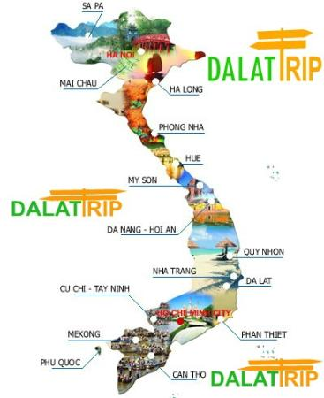 Tour map - Picture of Vietnam Tourist Center - Day Tours, Hanoi ...