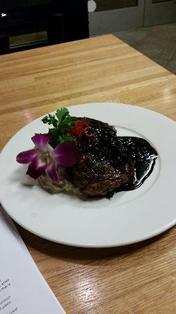 Grill on Gage: Rib eye steak. Beautiful presentation!