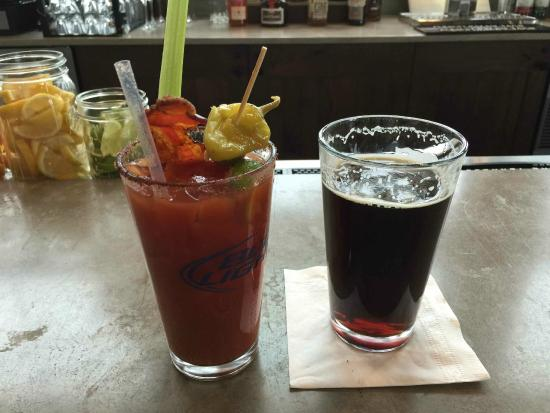 Four Points Lodge: Best Bloody Mary in Steamboat at 4 Points on the ski mountain