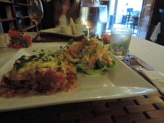 Mangoes Resort Restaurant & Bar : Vegetarian Lasagne