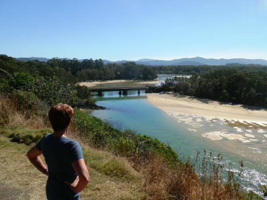 Boambee Bay Resort : View from the headland back towards resort