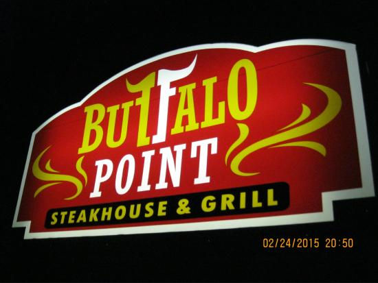 Buffalo point outdoor sign