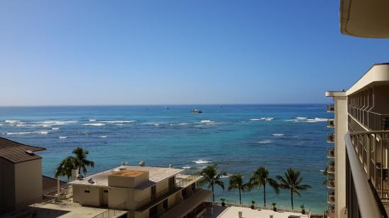 Outrigger Waikiki Beach Resort: view from our balcony