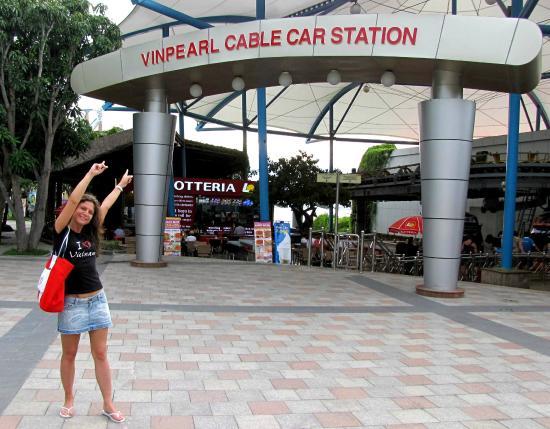 Vinpearl Nha Trang Resort : Канатная станция.