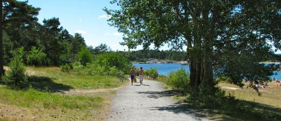 Faervik, Norge: Ned til stranden