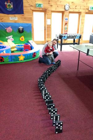 another of the games they have provided, huge dominoes!