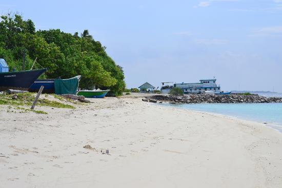 Haa Dhaalu Atoll: Kunburudhoo island Maldives beach
