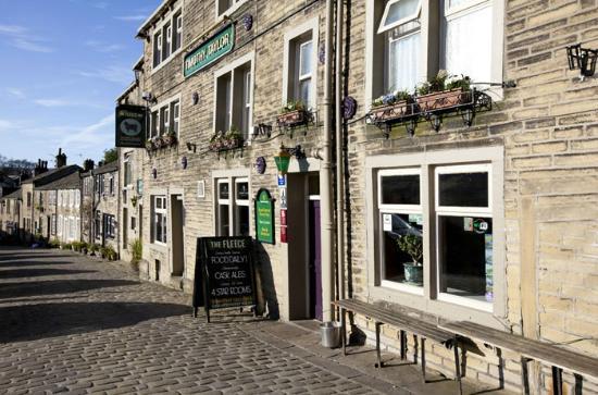 The Fleece Inn: main street