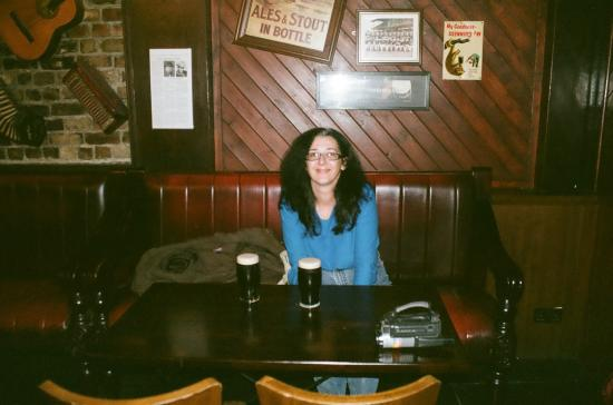 Paddy's Palace: Me at O'Shea's Pub, right down the street.