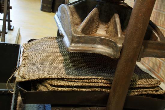 Musée de l'Olivier et de l'Huile Grecque : Πιεστήριο τσουβαλιών