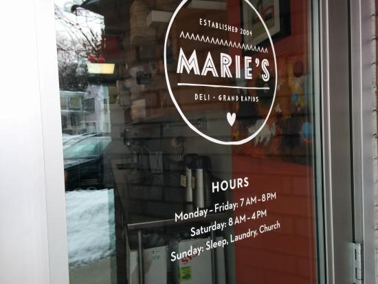 Marie Catrib's of Grand Rapids : Door