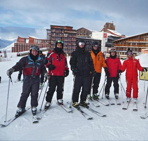Club Med Arcs Extreme : My ski group, with Christel on the right