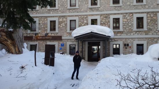 Hotel Santa Cristina: Nieve en Canfranc