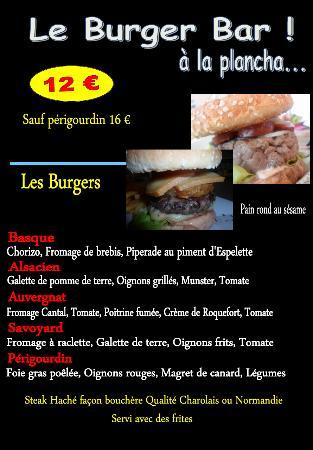 Parisot, Francia: notre carte de burger