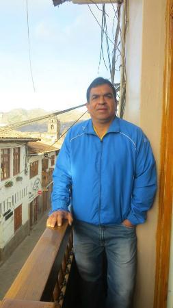 Qosqo Hostal: Desde el balcon