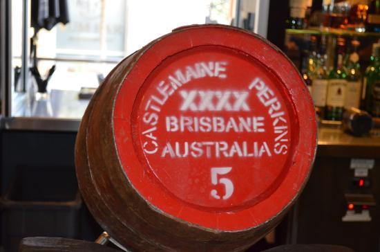 Breakfast Creek Hotel : XXXX Beer in a Wooden Barrel