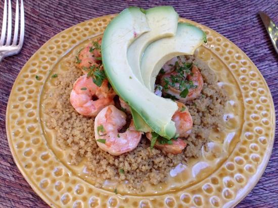 Nectar: Shrimp over couscous