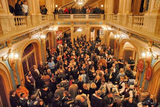 Morris Performing Arts Center: Fans in Grand Lobby (Photo by Peter Ringenberg)