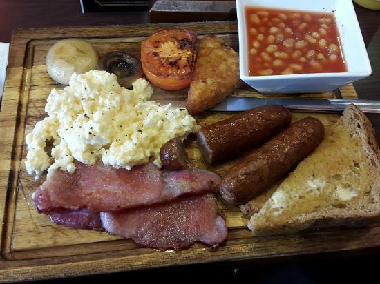 Riverside Cafe Lambeth Pier: Full English!