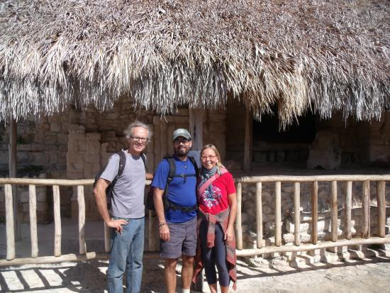 Casa Axis Mundi : at a ruin with our hosts, paul and Beatte