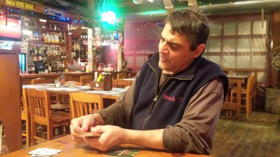The Cookhouse Saloon: Card tricks from the owner!