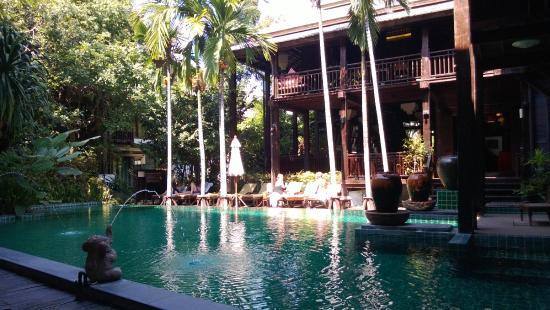 Yantarasiri Resort: View from the patio by the pool.
