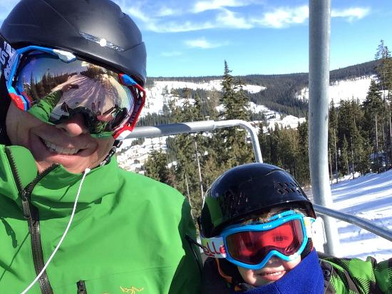 Sun Peaks: Heading up the Morrisey Express
