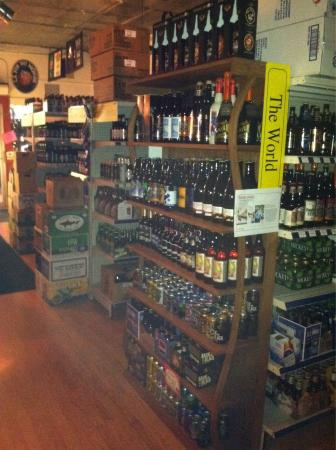 Cellar Restaurant & 6-Pak Store: 500 beers to choose from