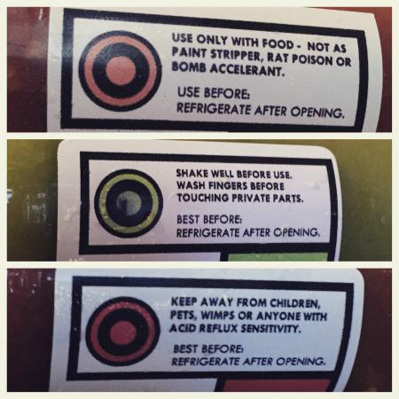 Sabroso: Hilarious warning labels on the hot sauce