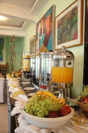 Hotel Pegasos : πρωινός μπουφές