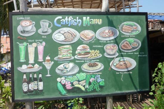 Catfish Bookshop & Restaurant: Menu