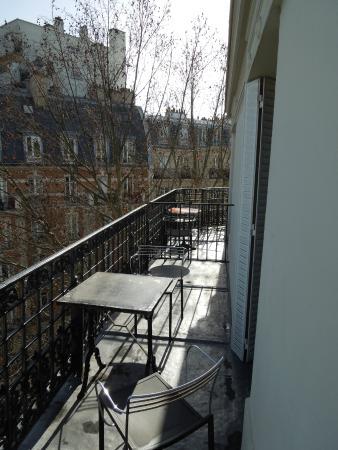 Hotel Baudin: Balkon