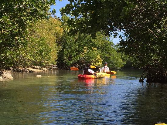 Blue Moon Outdoor Center: Canals offer smooth water despite any open water waves