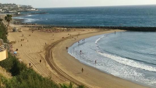 Corona Roja - Playa del Ingles: Badebucht unterhalb des C.C. Tropical