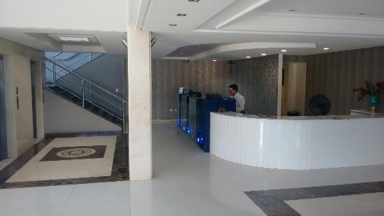 Arcoverde, PE: Recepção do hotel cruzeiro