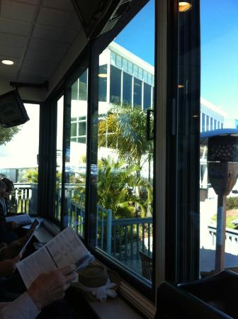 Tampa Bay Downs: View of Clubhouse, on top floor, from Garden Suite