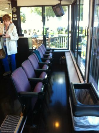 Tampa Bay Downs: Theater style seats in Garden Suite