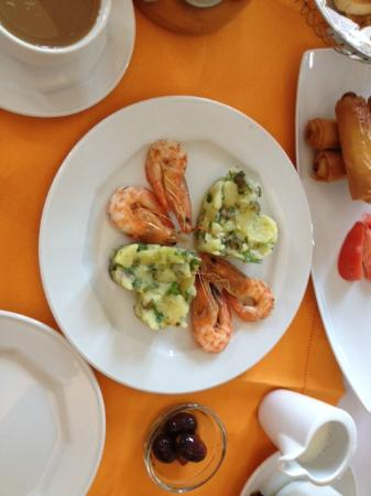 Villa Renos: Typical Breakfast