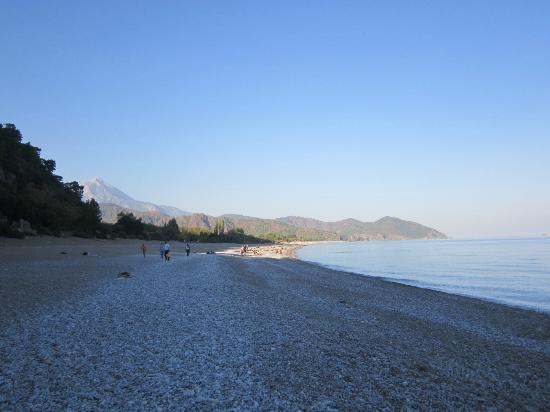 Grand Aygun Hotel: The beach looking north