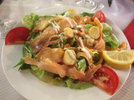 La Brique Rose : Salade au saumon