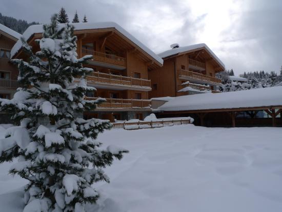 CGH Résidences et Spas Les Chalets de Jouvence : Sous la neige...