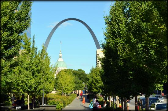 View of the Arch from the City Garden in St. Louis. - Picture of ...