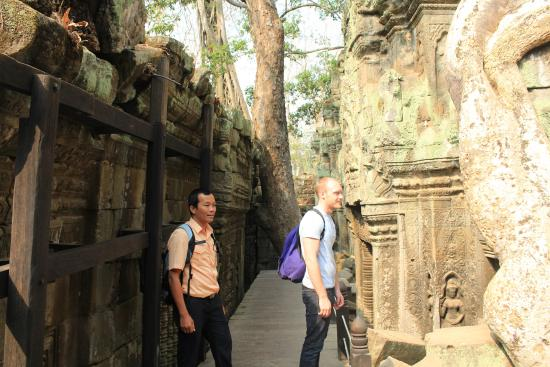 Siem Reap, Cambodia: Huat and Ricky and Ta Prohm