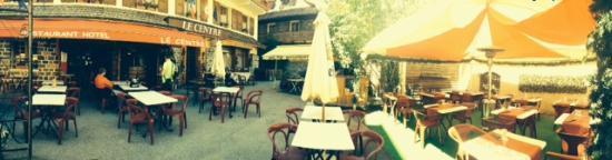 Hotel du Centre : Terrasse