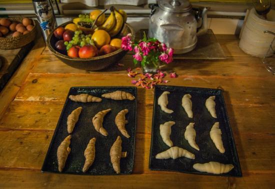 Los Juncos - Lake House: Freshly made mediaslunas every morning