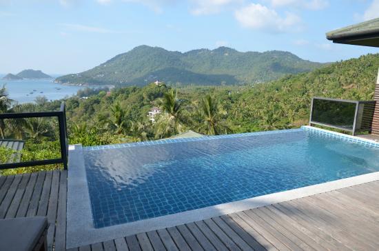 piscine à débordement avec jacuzzi - photo de koh tao heights pool